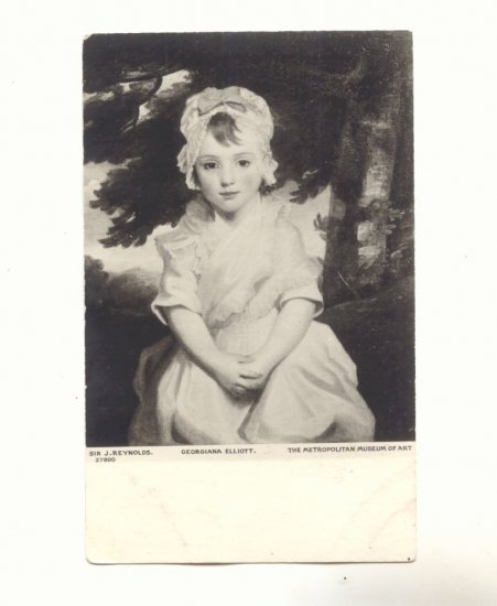 GEORGIANA ELLIOTT, PORTRAIT YOUNG GIRL VINTAGE POSTCARD   45
