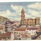 PANORAMIC VIEW, CATHEDRAL, MALAGA, SPAIN Vintage POSTCARD    52