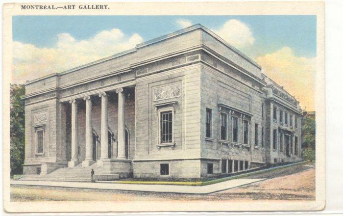 MONTREAL ART GALLERY, VIEW OF BUILDING VINTAGE POSTCARD   81