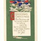 CHRISTMAS GREETING, VERSE, VIBRANT COLOR SCENE POSTCARD   121