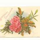 BIRTHDAY GREETINGS CARNATIONS GOLDEN ROD POSTCARD   145