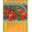 JOYOUS BIRTHDAY, RED ROSES, VINTAGE 1915 POSTCARD   150