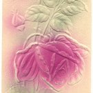 HEAVY EMBOSSED BIRTHDAY, LARGE ROSE 1909 POSTCARD    #164
