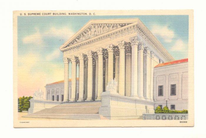 U.S. SUPREME COURT BUILDING WASHINGTON D.C. POSTCARD    #176