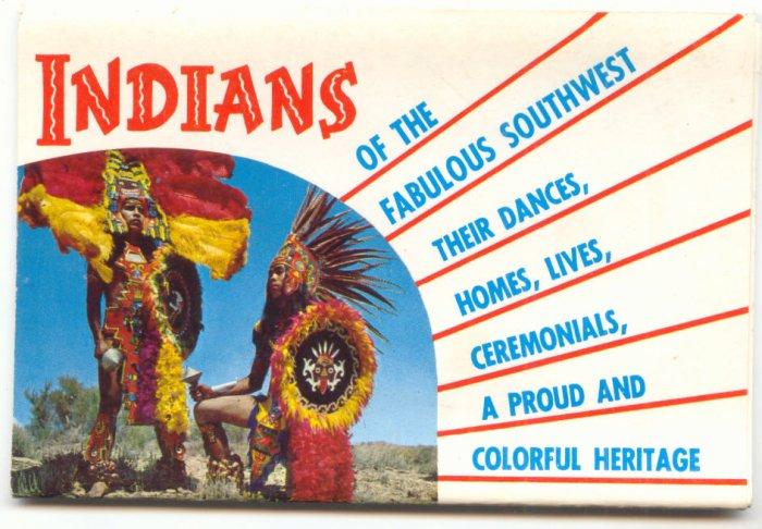 INDIANS OF THE SOUTHWEST, SOUVENIR POSTCARD FOLDER   #182