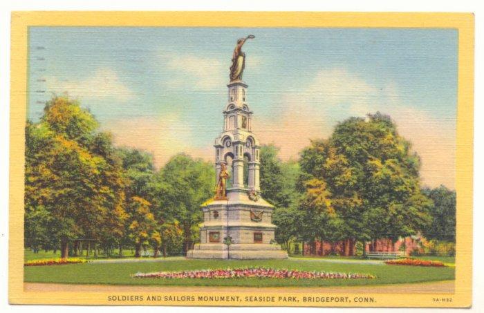 SOLDIERS & SAILORS MONUMENT, SEASIDE PARK, BRIDGEPORT   #186