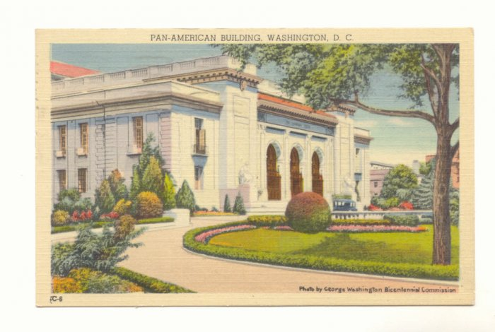 PAN-AMERICAN BUILDING WASHINGTON D.C.,1943 POSTCARD    #197