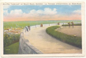 THE LOOK OUT, MOUNT ROYAL, MONTREAL VINTAGE POSTCARD   #204