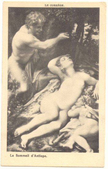 LE CORREGE, ADAM AND EVE, CHERUB, VINTAGE POSTCARD   #209