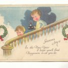 SEASON'S JOY, CHILDREN SNEAKING DOWNSTAIRS POSTCARD   #236