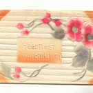 HEARTIEST CONGRATULATIONS, HEAVY EMBOSSED, POPPIES  POSTCARD #287