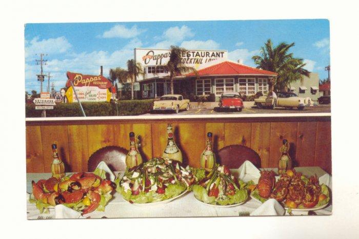 LOUIS PAPPAS' RESTAURANT, ST. PETERSBURG, FLORIDA   POSTCARD #319
