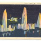 LAGOON OF NATIONS, NEW YORK WORLD'S FAIR VINTAGE   POSTCARD #321