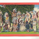 LONG ISLAND NEW YORK AMERICAN INDIANS CEROMONIAL DRESS    POSTCARD #331