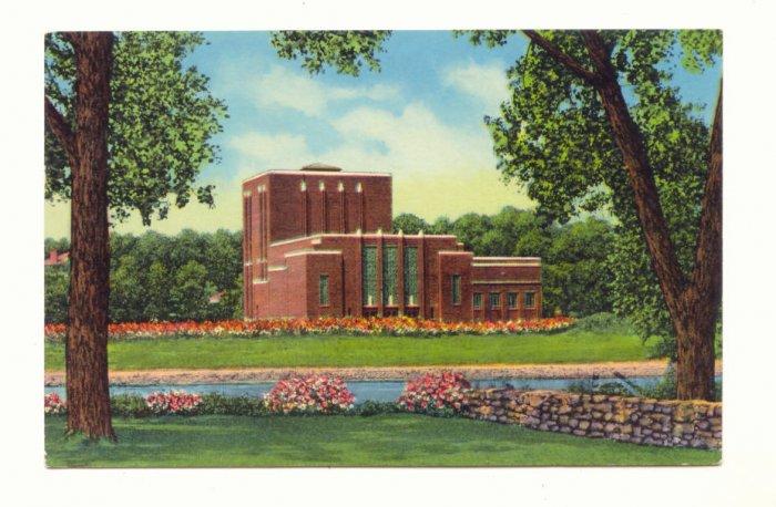 DRAMATIC ARTS BUILD. UNIVERSITY OF IOWA, 1956 POSTCARD #376