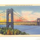 GEORGE WASHINGTON BRIDGE HUDSON RIVER NEW YORK CITY  Postcard #381