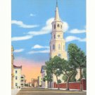ST MICHAEL'S CHURCH CHARLESTON SOUTH CAROLINA  Vintage Postcard #382