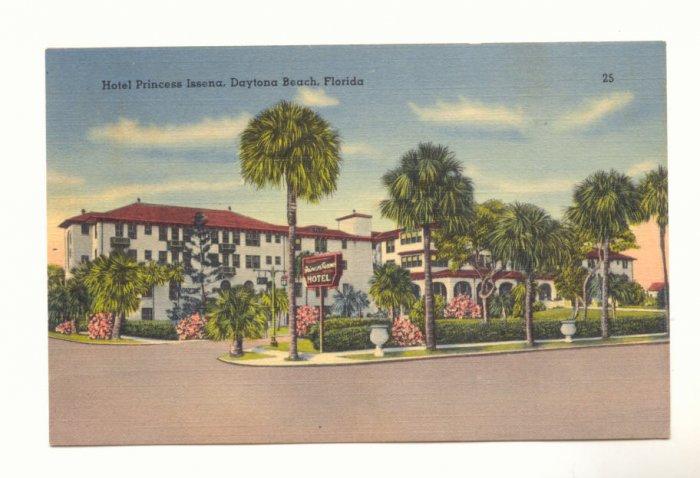 HOTEL PRINCESS ISSENA DAYTONA BEACH FLORIDA Postcard   #384