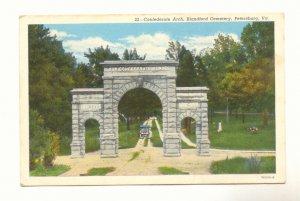 CONFEDERATE ARCH, BLANDFORD CEMETERY, PETERSBURG, VIRGINIA, Vintage Postcard #435