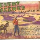 DESERT SCENES OF CALIFORNIA SOUVENIR FOLDER 1940   #497