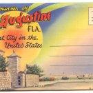 SOUVENIR FOLDER St. Augustine FLORIDA, VINTAGE #498