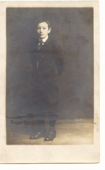 Handsome Young Man, REAL PHOTO POSTCARD 1911    #504