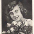 Beautiful Girl, Roses, REAL PHOTO POSTCARD   #512