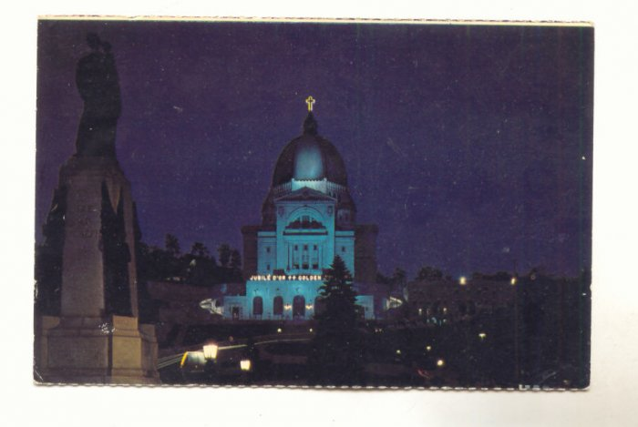 Montreal, Que, Canada, Night Scene of St. Josephs Oratory  Vintage Postcard  #531