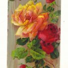 BEST WISHE, LARGE ROSES, VINTAGE GEL POSTCARD #546