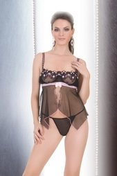 Flyaway sheer camisole with embroidered top