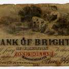 Brighton, Bank of Brighton, $1, 1861