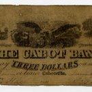 Cabotville, Cabot Bank, $3, 1846