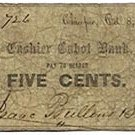 Chicopee, Isaac Bullens, 5 Cents, 1862