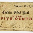 Chicopee, Isaac Bullens & Sons, 5 Cents, 1862
