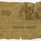 Amherst, (T Bass?) 20 Cents, May 7, 1863