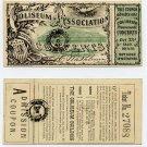 Boston, Coliseum Association, Admission/Lottery Ticket, 1869