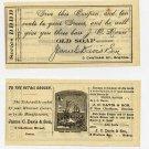Boston, James C Davis & Son, Old Soap, Advertising Coupon