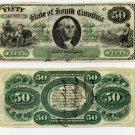 State of South Carolina, $50, 1873