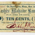 Great Barrington, Massachusetts, 10 Cents, Nov 10, 1862
