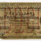 Bridgeport, Connecticut, $1 Lottery Ticket, 1872