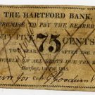Hartford Bank, Connecticut, 75 Cents, 1815, Raised