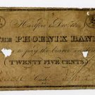 Hartford, Ct., Phoenix Bank, 25 Cents, 1814