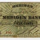 Meriden, Connecticut, 10 Cents, 1862, Wolcox & Co.