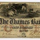 Laurel, Connecticut, $1, 1856