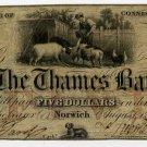 Norwich, Connecticut, $5, 1856