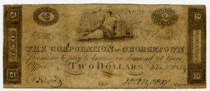 Georgetown, Corporation of Georgetown, $2, 1824