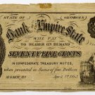 Rome, Bank of the Empire State, 75 Cents, 1863
