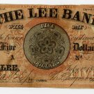 Lee, Massachusetts, Lee Bank, $5, 1857