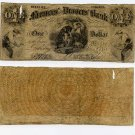 Petersburg, Farmers' and Drovers' Bank, $1, 1858
