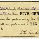 Carbondale, S.H. Freeland, 5 Cents, Nov 24, 1862